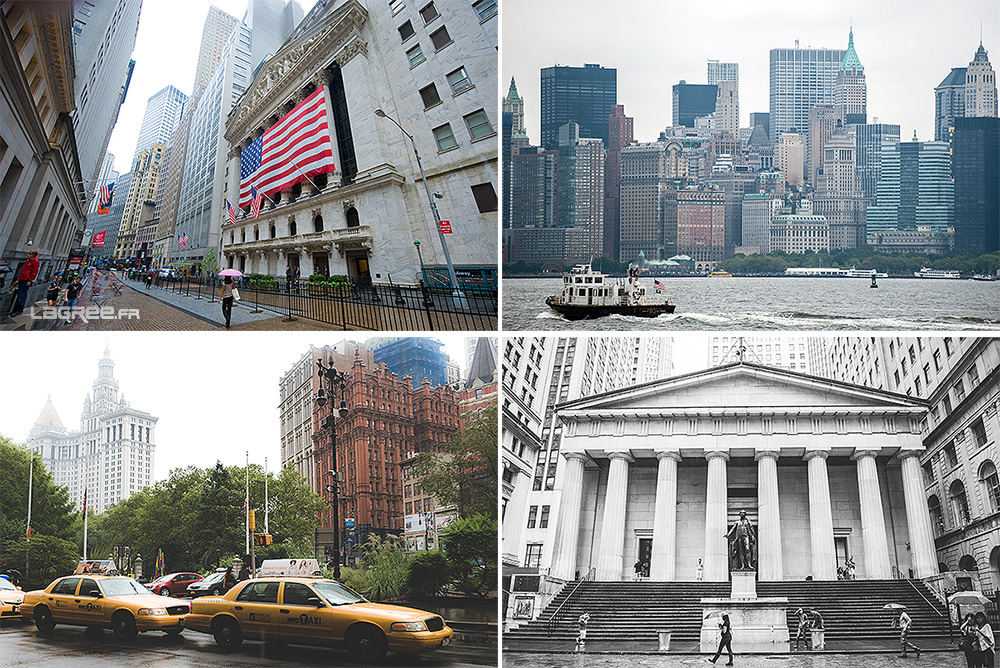 Wall street et le Federal Hall